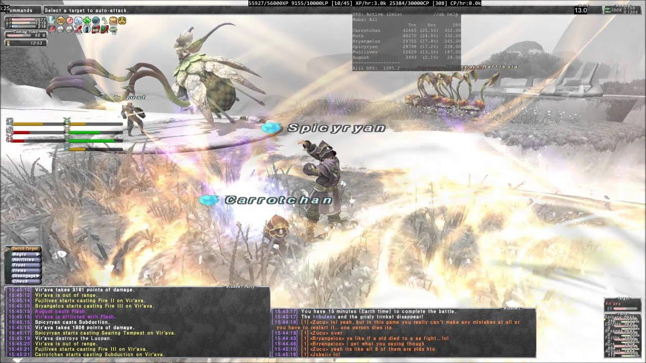 FFXI Escha-Ru'aun T3 Vir'ava 2  August Tank by Squishy Taru