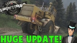 Spintires October Update - NEW TRUCKS AND MORE! Spin Tires Gameplay