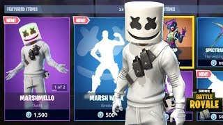 NEW MARSHMELLO SKIN + MELLO RIDER GLIDER + MARSH WALK EMOTE NEW FORTNITE ITEM SHOP UPDATE
