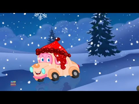 Little Snowflake | Car Cartoons for Babies | Christmas Songs And Nursery Rhymes for Kids