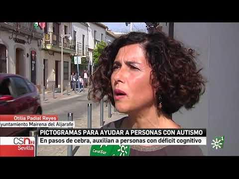 Canal Sur informa sobre la instalación de pasos con pictogramas para personas autistas