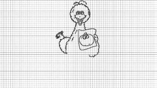 How to Draw Big Bird from Sesame Street Cartoon series - Video
