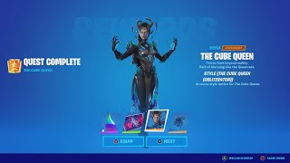 How To Unlock The CUBE QUEEN Skin QUICKLY! (How To Do The Cube Queen Page 1 Challenges)