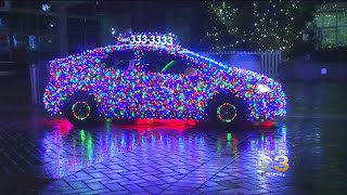 Taxi Driver Decorates Cab In 11,000 Christmas Lights