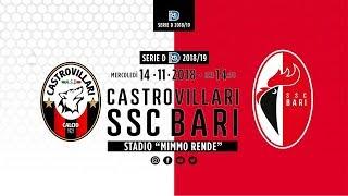 Serie D Gir.I | 10a Giornata | Castrovillari-SSC Bari | Live Streaming Dazn