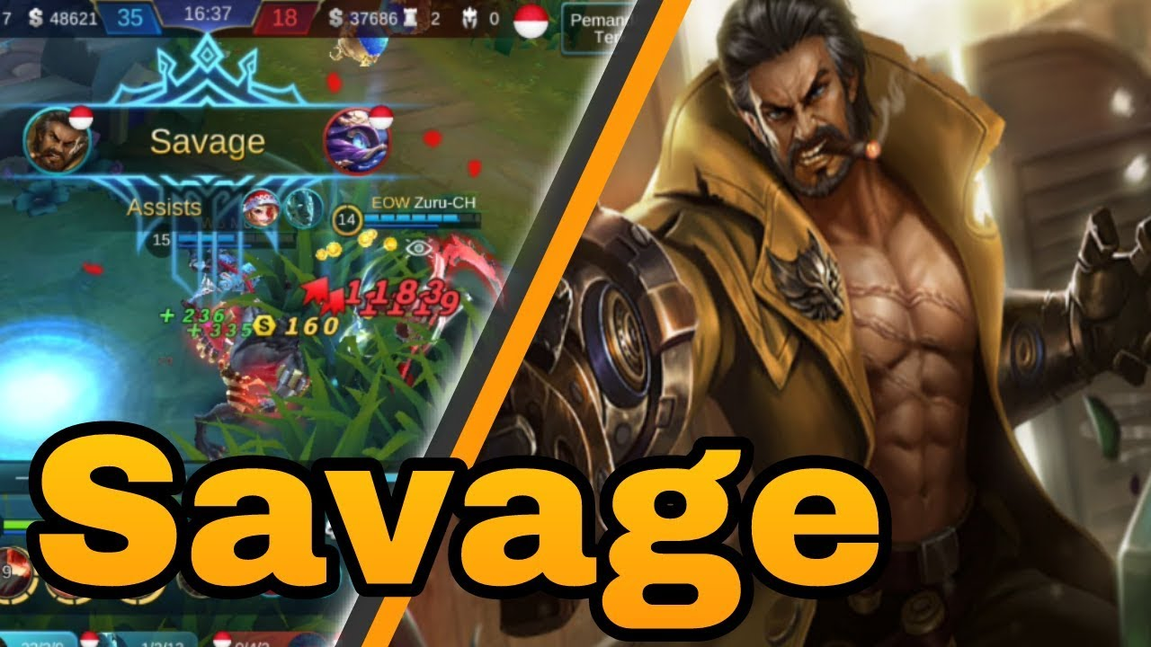 amazinggg roger savage!!! - roger build review - mobile legend #2