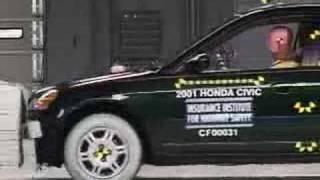 Crash Test 2001 - 2005 Honda Civic (Frontal Impact)