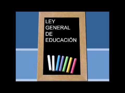 Audio Libro ley General de Educación parte 1