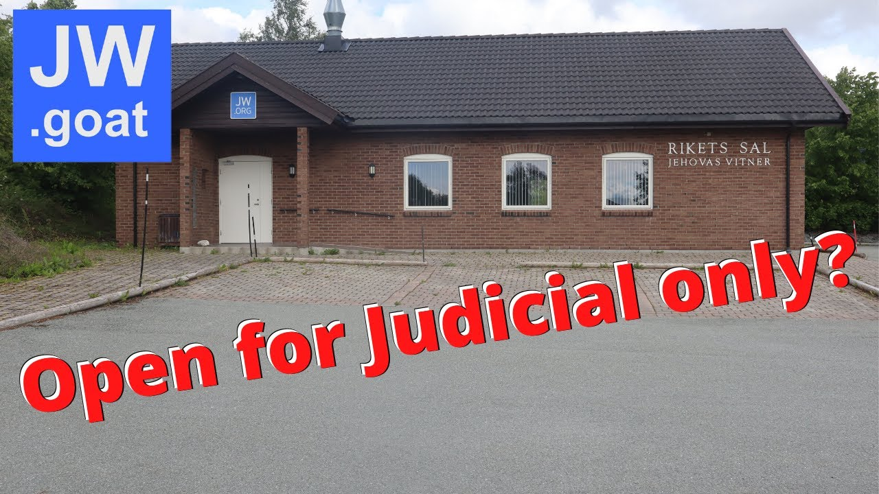 Kingdom Hall opens up - Only for Judicial Meetings