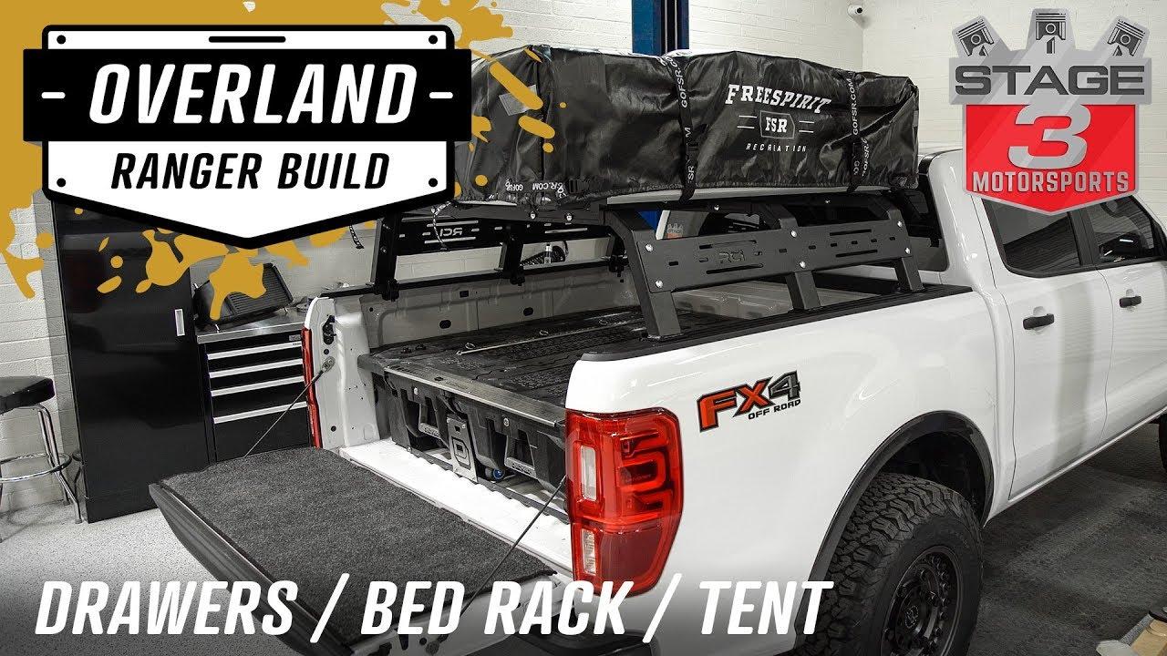 2019 ford ranger decked storage fsr tent rci bed rack