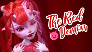 Using Only RED Art Supplies! | Rainbow Repaint Series | OOAK Doll