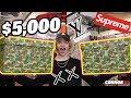 $5000 Hypebeast Mystery Box! Most Expensive! Supreme Louis Vuitton Bape