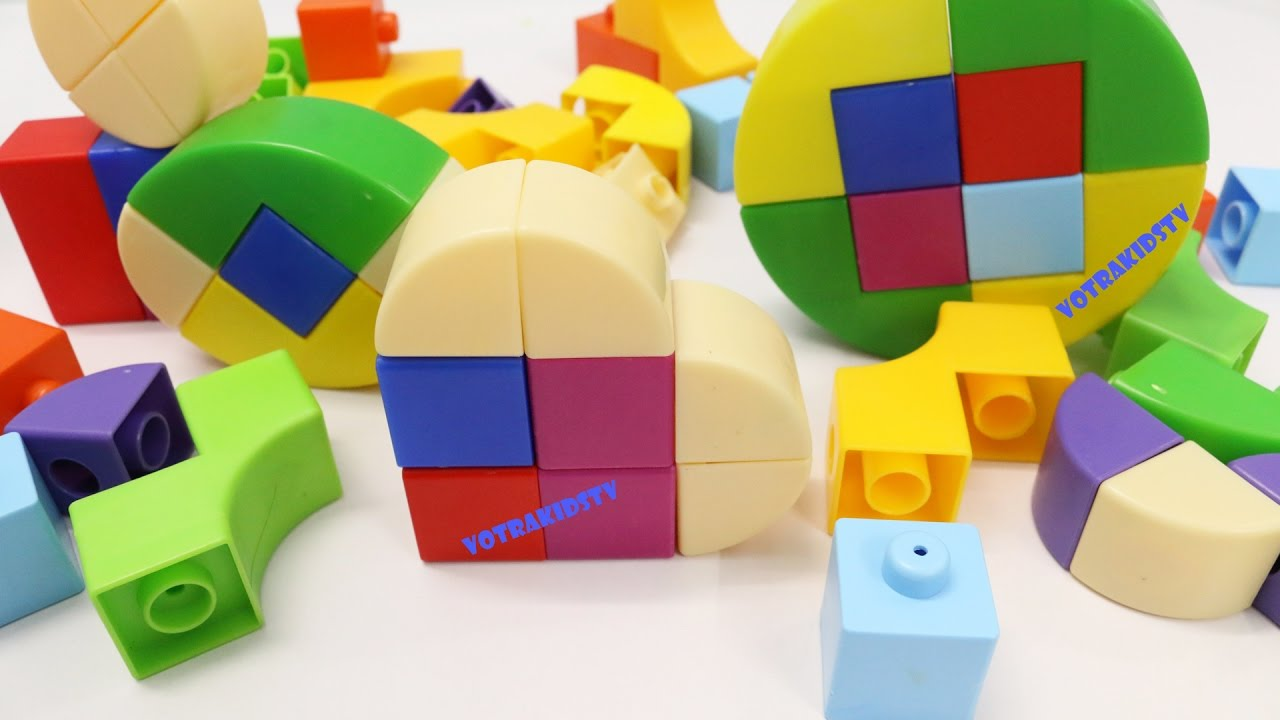 How to Make Shapes with Building Blocks Toys - YouTube