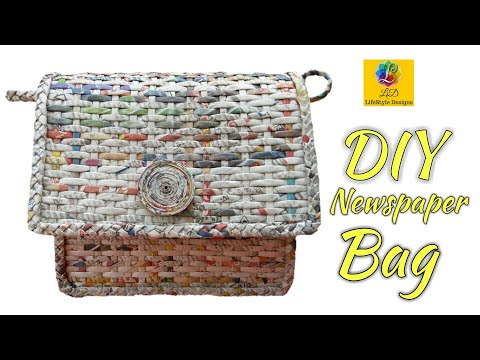 How To Make A Ladies Purse/Bag with Newspaper | Newspaper Ladies Purse
