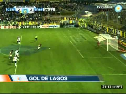 Gol Diego Lagos - Rosario Central 2-2 Independiente Mdz