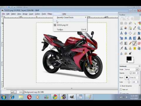 How To Change The Color Of A Car Motorcycle On Gimp Youtube