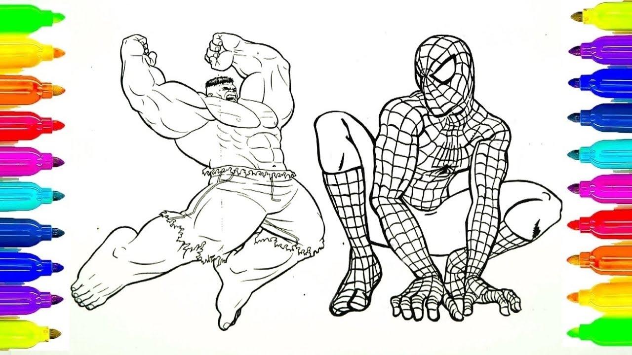 Dibujos Para Colorear Spiderman Y Hulk Y Ironman Para Niños