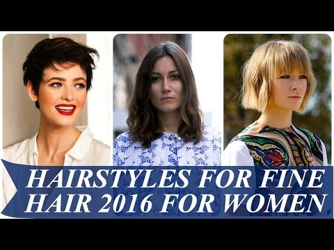 Hairstyles for fine hair 2017 for women