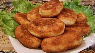 Рецепт жареных пирожков с печенью и картошкой