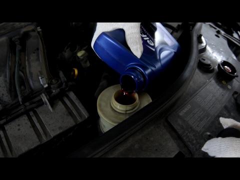 Замена датчика давления ГУР, заливка Супротек Suprotec ГУР и масла в Renault Duster