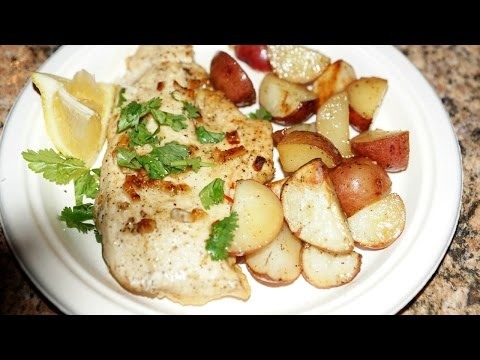 Yummy Garlic Baked CHICKEN & POTATOES / Recipe