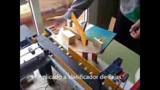 Practica 17  Picaxe 18M2. Servos 1. Giro a ambos lados aplicado a clasificador de cajas. Tecnologia