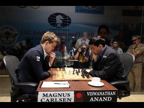Amazing Chess Game: World Chess Ch. (2013) Game 5: Magnus Carlsen vs Vishy Anand : Semi-Slav Defense