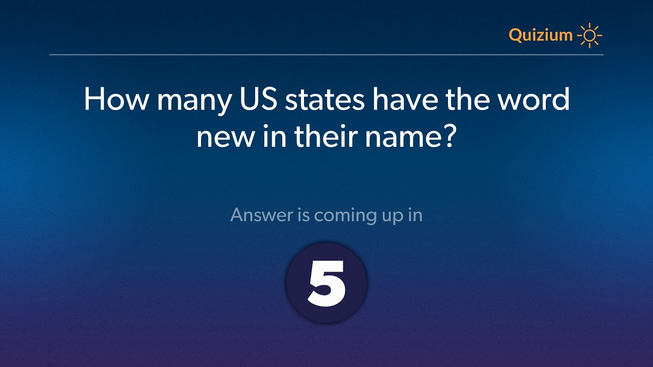 How Many Us States Have The Word New In Their Name Usa Quiz Youtube