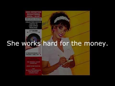 "Donna Summer - She Works Hard for the Money (LP Version) LYRICS SHM ""She Works Hard for the Money"""