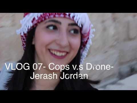 cops vs drones in Jordan (Beautiful Jerash) - Travel Vlog 07