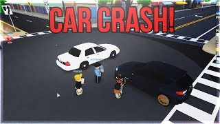 💥🚗YouTuber Gets Into Car Crash!💥🚗 ROBLOX Roleplay!