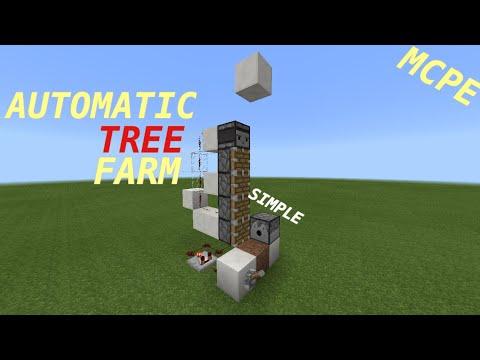 minecraft automatic tree farm tutorial