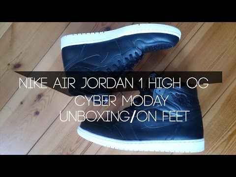 "AIR JORDAN 1 HIGH OG ""CYBER MONDAY"" Unboxing/On Feet (Dutch)NL"