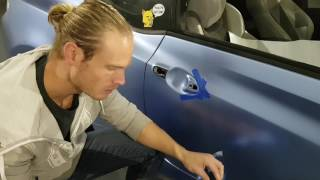 How to vinyl wrap a door handle. How to wrap a car by @ckwraps www.ckwrapsmiami.com
