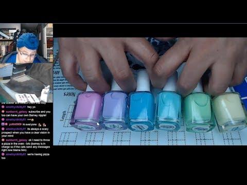 Nail Polish Testing | Pastel Droplets Extended Nail Art Tutorial [Streamed 4/17/19] thumbnail