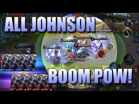 5 VS 5 ALL JOHNSON EPIC FIGHT!! - MIRROR MODE MOBILE LEGENDS