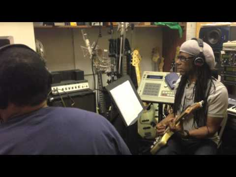 Nile Rodgers (Chic,Daft Punk) recording with Jota Quest in Avatar (Power Station) Studios in NYC