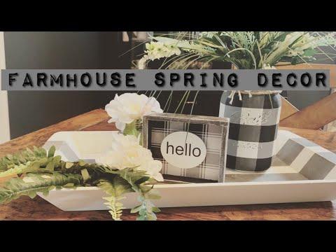 Spring Farmhouse Décor/ Buffalo Plaid Mason Jar