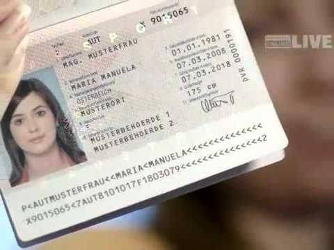 Reisepass Mit Fingerabdruck