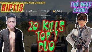 DUAL vs Gái | Rip Thể Hiện Gánh Team 20 KILL | Rip113 PUBG