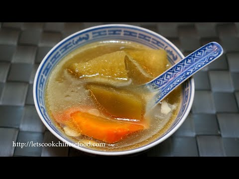 Hong Kong Soup Recipe:Blotched Snakehead Fish With Carrot And Green Radish Soup(for 12 Persons)