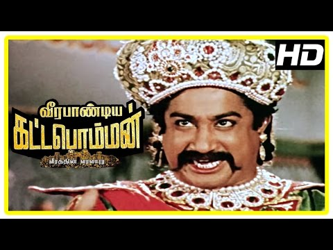 Veerapandiya Kattabomman Movie Scenes | Parthiban insults Sivaji | Sivaji fights the British