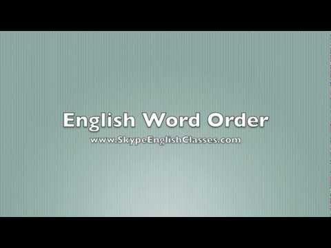English Sentence Word Order