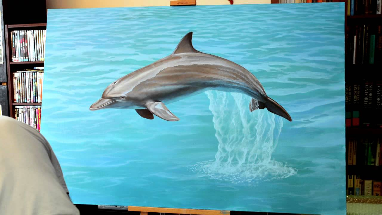 Dolphin Painting Time Lapse YouTube
