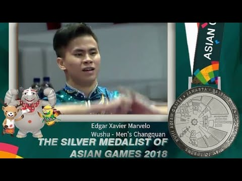 Asian Games 2018 : Wushu Men's Changquan Final ● Young Marvelo Wins First Silver For Indonesia