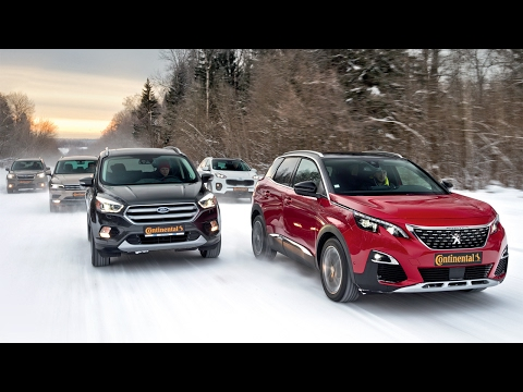 Новый Tiguan, Sportage, Kuga, Forester и Peugeot 3008. Испытание холодом