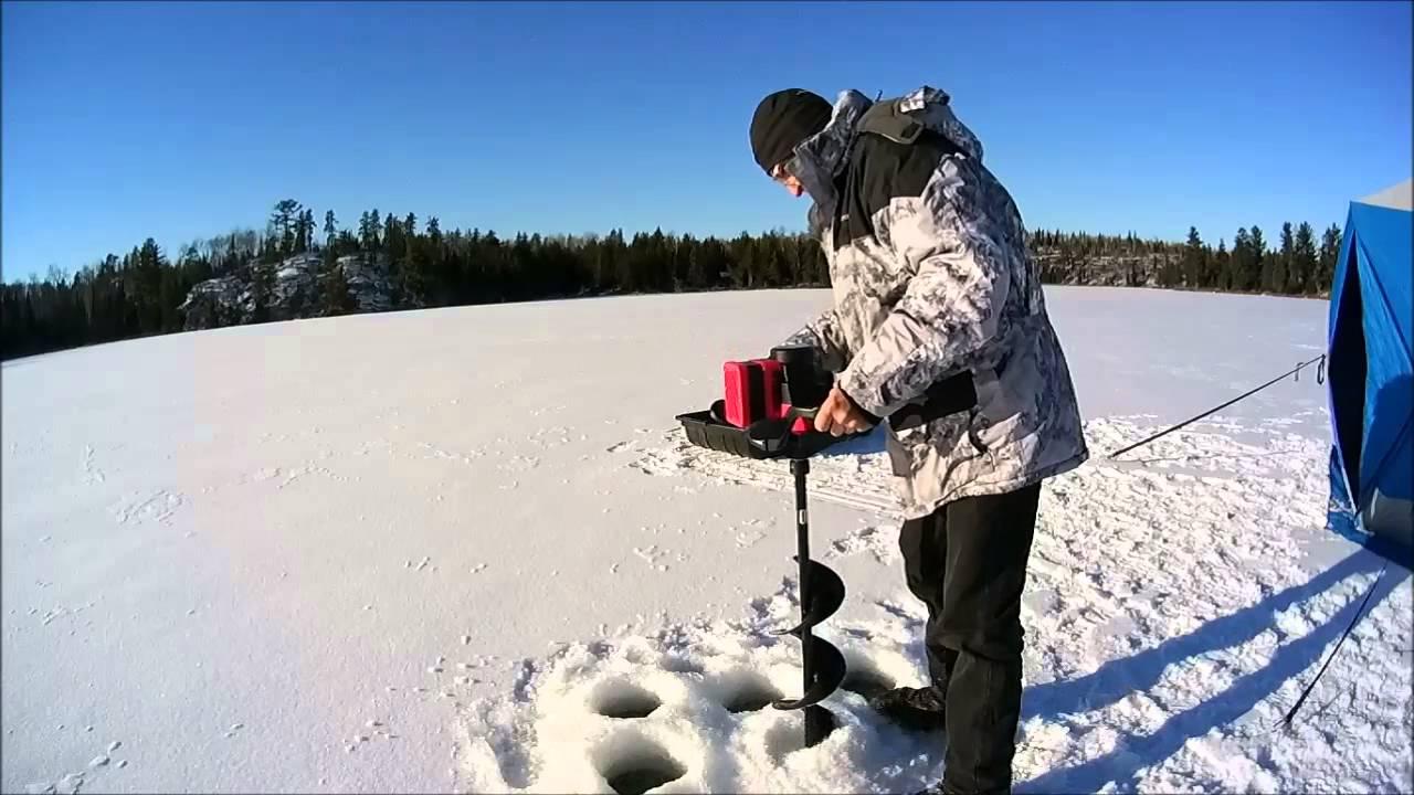Strikemaster Lithium Lazer Ice Auger in real ice
