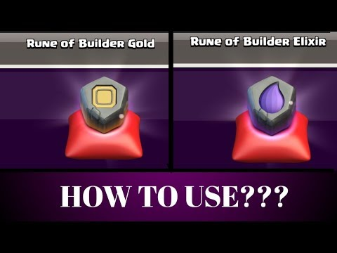 COC | How to use Rune of Builder Gold/Elixir?