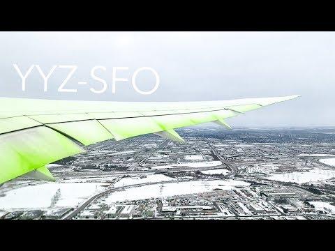 TORONTO to SAN FRANCISCO on Air Canada | Boeing 787-9 Economy *60FPS*