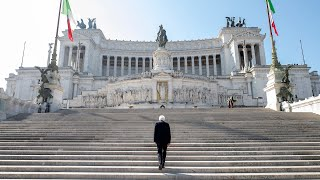 25 Aprile, il Presidente Mattarella all'Altare della Patria